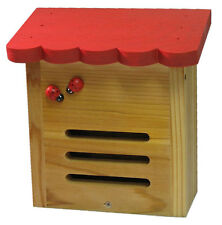 Hand-Painted RED ROOF Ladybug House - Keep Lady Bugs in Garden+Use to Overwinter