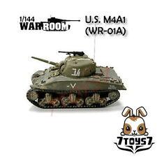 War Room 1/144 M4A1 US Sherman Tank #A Prepainted Pre-Assembled WWII Bid WR001A