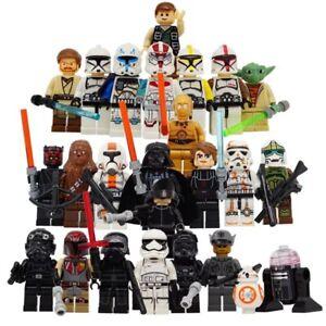 STAR WARS Minifigure NUOVA LEGO custom Darth Vader stormtrooper han solo Obi-Wan