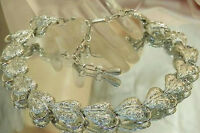 So Pretty Vintage 50's Textured Heart Necklace 329M6