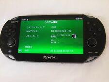 Z3952 Sony PS Vita 1100 console Crystal Black 3G/Wi-Fi model PCH-1100