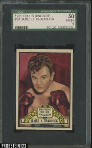 1951 Topps Ringside Boxing #24 James J. Braddock SGC 50 VG-EX 4