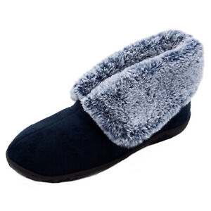 LADIES PADDERS ESME SLIP ON BOOTIES WARM WINTER INDOOR CASUAL SLIPPERS SIZE