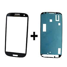 ORIGINALE Samsung Galaxy s3 gt-i9300 i9301 LCD DISPLAY VETRO BLU + Adesivo