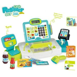 Kids Cash Register Toy Pretend Play Shops Electronics Checkout Till Baby Fun