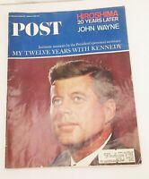 Vtg Saturday evening post magazine aug 14 1965 jfk hiroshima john wayne
