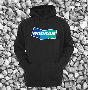Doosan Digger Excavator DX EX Solar Black Heavyweight Hoodie All Sizes S - XXL