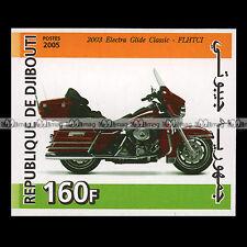 ★ HARLEY FLHTC ELECTRA GLIDE CLASSIC 2003 ★ DJIBOUTI Timbre Moto Motorrad #245