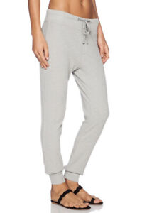 James Perse Thermal Sweatpants Joggers Waffle knit Grey Size 3 Large