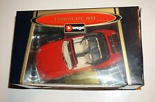VINTAGE BBURAGO® 3090 1:18 PORSCHE 911 CARRERA CABRIOLET 1994 RED MADE IN ITALY