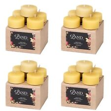 4 x 5 tea light beeswax candles in gift box handmade natural long burning