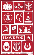 Armour Reusable Over n Over Glass Etching Stencil - Assorted Holidays