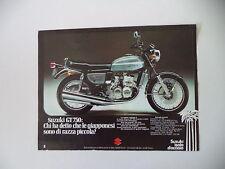 advertising Pubblicità 1974 MOTO SUZUKI GT 750
