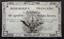 Assignat de Quatre Cents Livres - 21 novembre 1792 - Signature  SAY