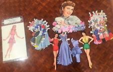 Paper Doll Vtg 1955 Pat Crowley Starlet 2 Statuette 50 Pc BONUS Alice Faye