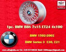 1 Cerchio BBS BMW 7x15 4x100 ET24 E30 1502-2002 E21 Wheel Felge Jante TUV
