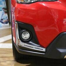 For Subaru XV Crosstrek 2018-2020 Chrome Front Fog light Eyelid Cover Trim