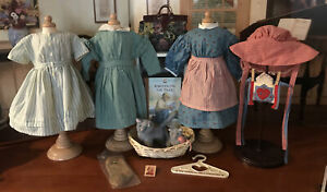 American Girl Historical Kirsten dresses & Accessories lot -Retired W.Germany