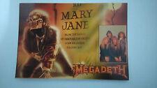 Megadeth Mary Jane vintage music postcard POST CARD