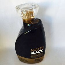 Devoted Creations Matte Black Sleek Bronzer Tanning Bed Lotion 13.5 oz