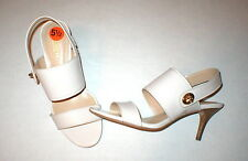 New Womens Coach Sandals Heels Slingback Beige Nude Dress Work Shoes 7 Patent