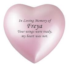 Baby Girl Pink Remembrance Personalised Urn Keepsake Ashes Cremation Cremains