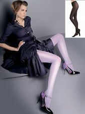 Collant opaque noir Femme micro Satine brillant 50 den microfibre Gabriella T2