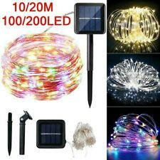 Outdoor Solar Fairy String Lights 200 Led Copper Wire Waterproof Garden Décor Us