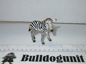 Schleich Germany Zebra Foal Figure Black & White Figurine