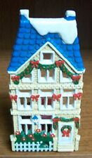 Vintage Painted Cast Iron Candle Holder - Votive Candle Christmas Holiday House