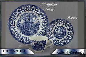 "Ein 3er Kaffeegedeck Churchill  ""Royal England"" blau teller tasse"