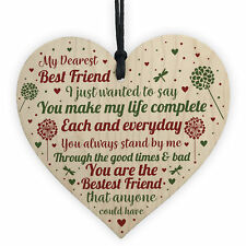 Friendship Gifts Friendship Plaque Wooden Heart Thank You Gift For Best Friend