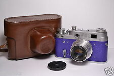 FED 3 (type A) Blue body Soviet / Russian 35mm Rangefinder Camera, Industar-26m