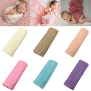 Newborn Baby Infant Photography Photo Shoot Prop Cotton Linen Wrapping Towel