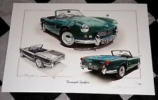 TRIUMPH SPITFIRE 4 Mk.1 1962 - 1964 LIMITED EDITION PAINTING PRINT ARTWORK NEW