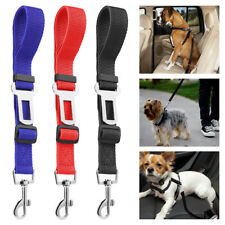 3 Pack Cat Dog Pet Safety Seat belt Clip for Car Vehicle Adjustable Harness Lead