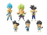 Movie Dragon Ball super WCF Figure 3 6 set Broly Goku Vegeta Bardock From JAPAN