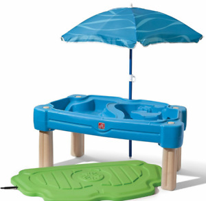 Step2 Cascading Cove Sand And Water Table With Cover, Umbrella And 6 Piece Acces
