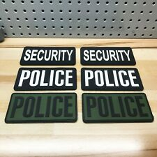 """Lot of 10 - Rothco PVC Police SWAT Security Patches w/ Hook Back 3"""" x 6"""" Large"""