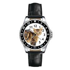 Sokoke Forest Cat Unisex Mens Ladies Fashion Leather Strap Quartz Wrist Watch