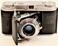 Vintage Voigtlander Vito II Viewfinder 35mm Folding Film Camera/Sekonic L.Mtr
