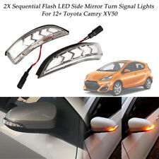 2xFor Toyota Camry Corolla Yaris Vios Dynamic LED Turn Signal Lights Side Mirror