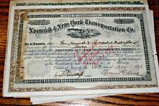#S128,Vintage Stock Norwich & NY Transportation Co 1893