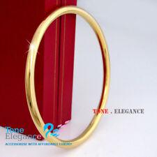 9ct yellow gold GF silver tone golf women men solid bangle bracelet jewellery