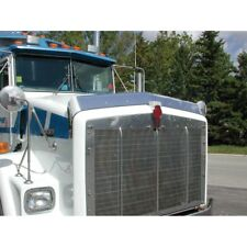1993-2006 Kenworth T800 Wide Hood and C500 Bug Deflector, Stainless Steel