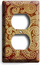 Damask Paisley Pattern Duplex Outlet Wall Plate Cover Living Room Bedroom Decor