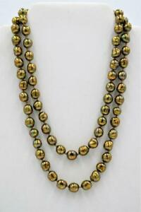 """Vintage Gold Plated Pearl Baroque Freshwater Pearl Strand Necklace 30"""" Long"""