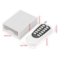 DC 12V 20A 12 Kanäle Wireless RF Funkrelais Fernbedienung Fernschalter Relais hg