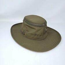 Tilley The Airflo Hat Olive Green Mens 7  Sun Safari Nylon Travel airflow 22in