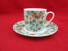 Mary Engelbreit (2002) Demitasse Cup & Saucer - Green Floral
